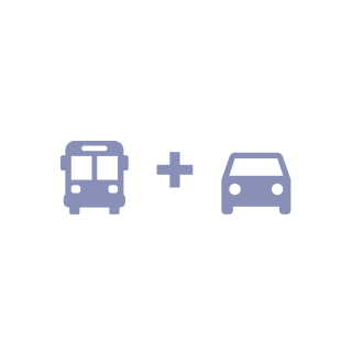 Bus + Car icon