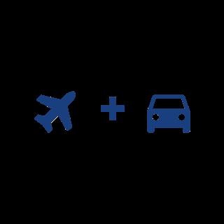 Plane + Car icon