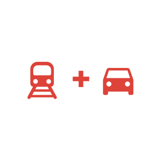 Train + Car icon